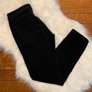 LOFT • curvy skinny black corduroy pants Sz 28/6